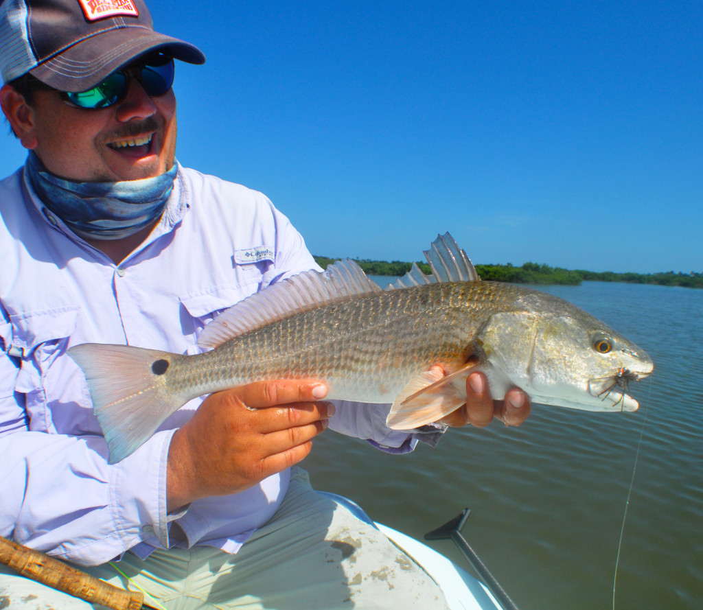 Bill, from TN with a Mosquito Lagoon Redfish