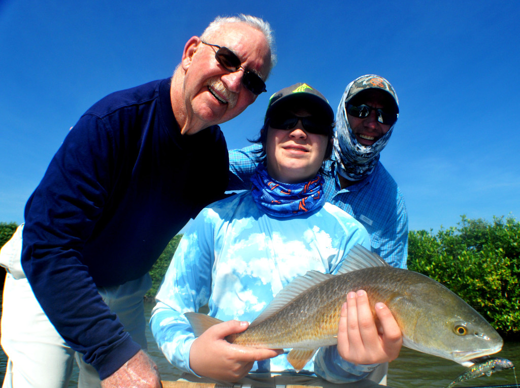 3 generations of the Damm Family came out to enjoy some of Mosquito Lagoon's healthy redfsih population.
