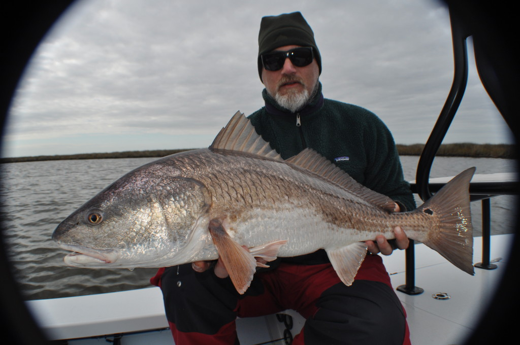Fly fishing for Redfish in the Louisiana Marsh.